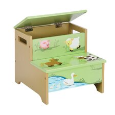Farm Friends Storage Step Stool