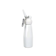 Dessert Chef 1 Pint Enamelled Cream Whipper in White Aluminum