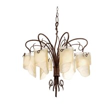 Recycled Soho 6 Light Chandelier