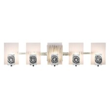 <strong>Varaluz</strong> Polar Recycled 5 Light Bath Vanity Light