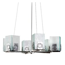 Recycled Polar 6 Light Chandelier