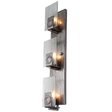<strong>Varaluz</strong> Polar 3 Light Vertical Recycled Wall Sconce