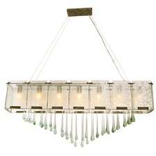 <strong>Varaluz</strong> Rain Drops 7 Light Linear Pendant