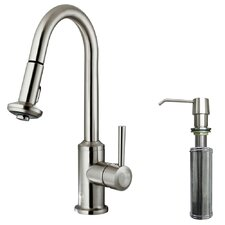 One Handle Single Hole Kitchen Faucet with Soap Dispenser