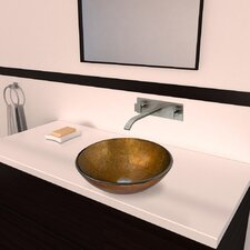 <strong>Vigo</strong> Branco Glass Vessel Bathroom Sink with Titus Wall Mount Faucet