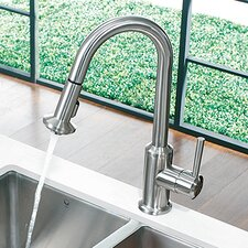 One Handle Single Hole Pull Down Spray Kitchen Faucet