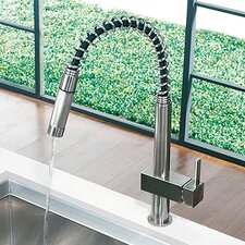 Teramo One Handle Single Hole Spiral Kitchen Faucet