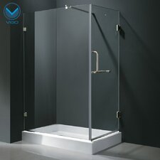 Acrylic Pivot Door Glass Frameless Shower Enclosure with Base