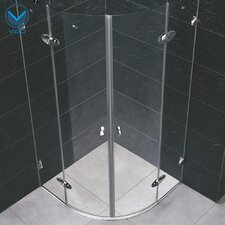 Neo-Angle Round Double Door Frameless Shower Enclosure
