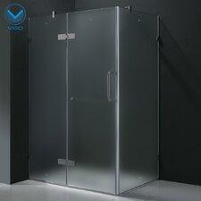 """24"""" Pivot Door Swing Frameless Shower Enclosure"""