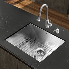 "Platinum 23"" x 18"" All in One Undermount Kitchen Sink with Faucet"