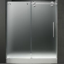 "59.75"" W x 74"" H x 36"" D Sliding Shower Door with Right Side Opening"