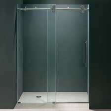 "48"" W x 74"" H Sliding Shower Door with Reversible Side Opening"