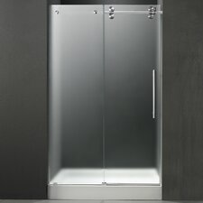 "59.75"" W x 74"" H x 32"" D Sliding Shower Door with Right Side Opening"