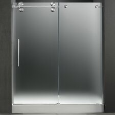"59.75"" W x 74"" H x 36"" D Sliding Shower Door with Left Side Opening"