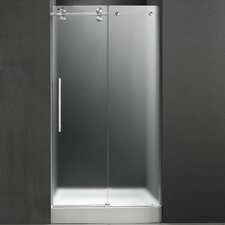 "59.75"" W x 74"" H x 30"" D Sliding Shower Door with Left Side Opening"