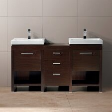 "<strong>Vigo</strong> Adonia 59.5"" Double Bathroom Vanity Set"