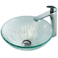 Molded Ice Bathroom Sink with L-Shaped Faucet