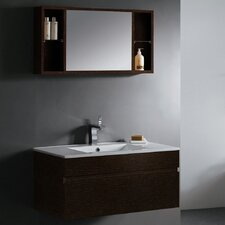 "<strong>Vigo</strong> Picasso 35.5"" Wall Mounted Bathroom Vanity Set"