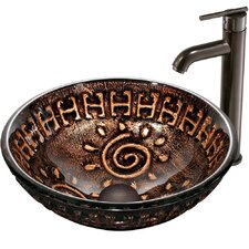 Aztec Vessel Sink with Faucet