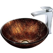 <strong>Vigo</strong> Kenyan Twilight Sink with Faucet