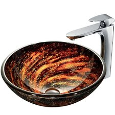 Northern Lights Vessel Sink with Faucet