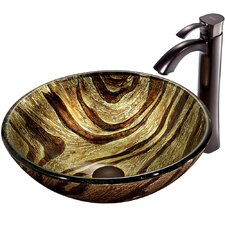 <strong>Vigo</strong> Zebra Vessel Sink with Faucet
