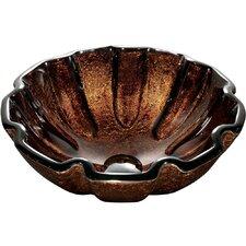 Mediterranean Seashell Tempered Glass Vessel Sink