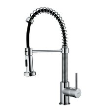 1 Handle Single Hole Pull Out Spiral Kitchen Faucet