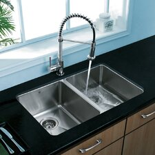 "<strong>Vigo</strong> 29.25"" x 18.5"" Undermount Double Bowl Kitchen Sink"