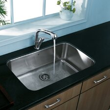 "30"" x 18"" Undermount Single Bowl Kitchen Sink"