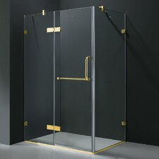 "<strong>Vigo</strong> 24"" Pivot Door Swing Frameless Shower Enclosure"