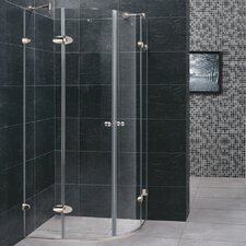 <strong>Vigo</strong> Neo-Angle Round Double Door Frameless Shower Enclosure