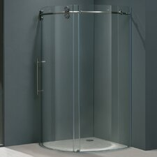<strong>Vigo</strong> Frameless Round Neo-Angle Left Side Shower Door