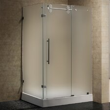 <strong>Vigo</strong> Sliding Door Frameless Shower Enclosure with Base