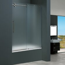 <strong>Vigo</strong> Frameless Sliding Tub Frosted Left Side Tub Door
