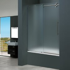 Frameless Sliding Tub Frosted Right Side Tub Door
