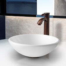 Stone Glass Vessel Bathroom Sink with Faucet