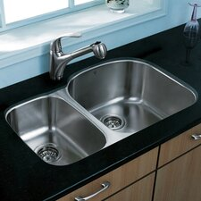 "29.5"" x 20.75"" Double Bowl Undermount Kitchen Sink"