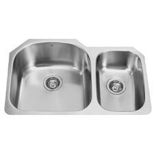 "31.5"" x 20.5"" Double Bowl Undermount Kitchen Sink"