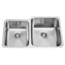 "32"" x 20.75"" Double Bowl Undermount Kitchen Sink"