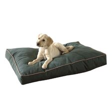 Indoor/Outdoor Dog Pillow with Khaki Cording