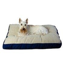 Four Season Dog Pillow with Cashmere Berber Top