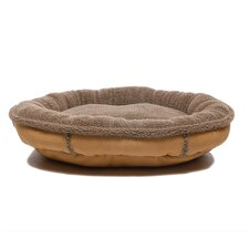 <strong>Everest Pet</strong> Faux Suede Oblong Comfy Cup Donut Dog Bed
