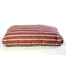 Indoor/Outdoor Striped Dog Bed in Red