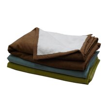 Faux Suede and Cloud Sherpa Pet Throw