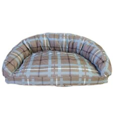 Brutus Tuff Semi Circle Lounger Bolster Dog Bed
