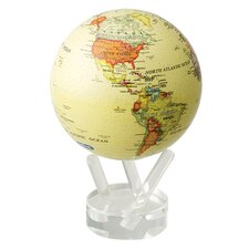"""4.5"""" Antiqued Globe with Crystal Base"""