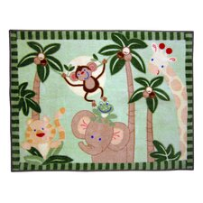 Jungle Babies Monkey Kids Rug