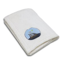 Ahoy Mate! Applique Coral Fleece Blanket